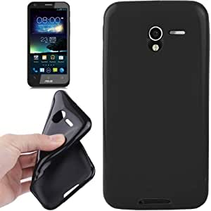 Pure Color Smooth Surface TPU Protection Case for Asus PadFone 2 A68 Smartphone (Black)