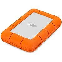 LaCie Rugged Mini - Disco Duro Externo de 4 TB con USB 3.0, Naranja