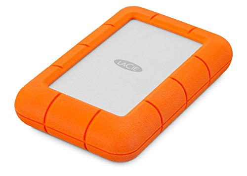 LaCie LAC9000633 externe tragbare Festplatte, Rugged Mini 4 TB - orange