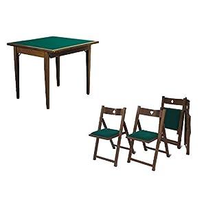 41q3JrRYa5L. SS300  - Set Luxus 4 Stühlen und Spieltisch