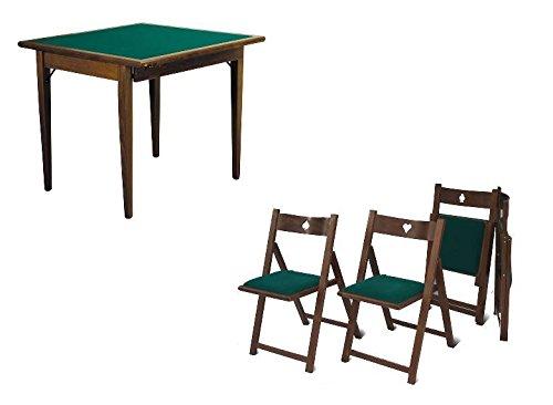 Set Luxus 4 Stühlen und Spieltisch