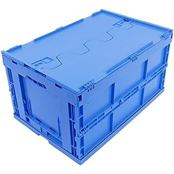 KLAPPBOX MIT DECKEL 61 Liter, stabile Klappbox Made in