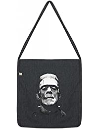 Frankenstein Top Quality 'Recycled' Shopper Tote Sling Bag Dark Grey