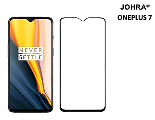 Johra® 6D (Full Adhesive Glue) Edge to Edge Tempered Glass Screen Protector for OnePlus 7 - Black