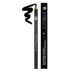 ALKEMILLA – Lápiz de ojos – Negro intenso 01 – Probado oftalmológicamente – Indicado para ojos sensibles – Alta pigmentación – Marca precisa – Alta capacidad de mezcla – Larga duración – 1.50 gr