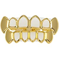 Comparador de precios RENYZ.ZKHN Gold Teeth, Gold Teeth, Gold Teeth, Gold Teeth, Hollow Teeth, Metal Teeth, Gold Teeth, Gold Teeth,Hollowed Out Canine Suit (Golden) - precios baratos