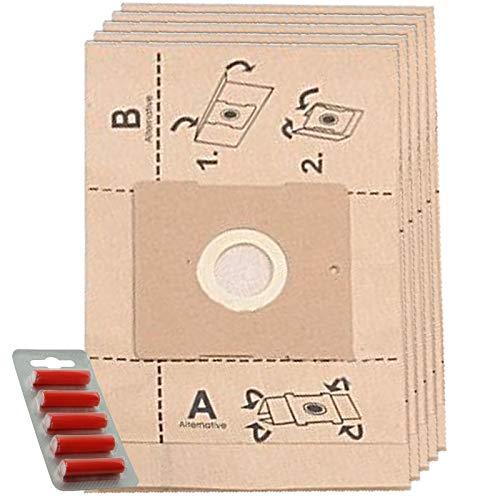 Spares2go - Bolsas de Polvo para aspiradora Russell Hobbs DALMATA (5 Unidades + ambientadores)