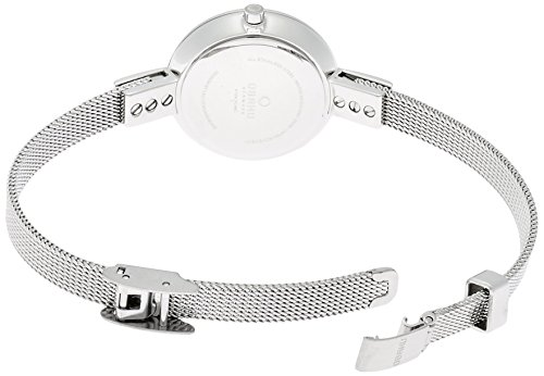 Obaku by Ingersoll ladies white dial stainless steel mesh bracelet watch