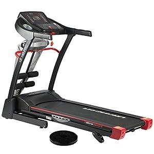 Ultrasport motorisches Laufband LB 150-Sport, elektrisch, Hometrainer mit 2-fach Dämpfungssystem, klappbar für zuhause, Geschwindigkeitsbereich 1,0 bis 16 km/h, 1,500 W Leistung, belastbar bis 110 kg