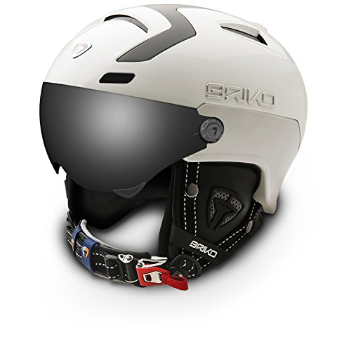Briko Stromboli 1 visors – Casque de ski unisexe, couleur blanc, taille 54