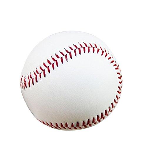 LEORX 9 pollici PVC morbido Baseballs di formazione pratica per studenti e principianti - confezione da 2 (bianco)