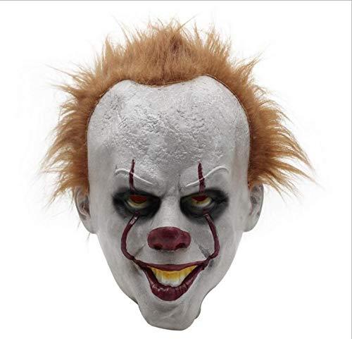 (Gruselige Halloween Clown Gesichtsmaske Für Erwachsene & Gruselig Voller Kopf Cosplay - 2017 Film Stephen Kings Latex Maske)