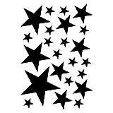 plot4u Sterne Aufkleber Set gefüllt 14x2,5cm6x5cm2x7,5cm1x10cm schwarz