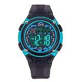 Kinder Digitaluhr, Funktionelle Wasserdichte Jungen Uhr Mädchen Uhr mit Zeit, Datum, Woche, Hintergrundbeleuchtung, Warnung, Stoppuhr Digital Uhr für Teenager und Kinder