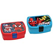 box portamerenda spiderman colori assortiti
