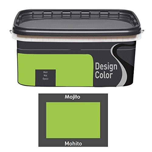 Design Color 5 L. farbige Innenfarbe, Wandfarbe Mojito, Mohito, Grün, Matt