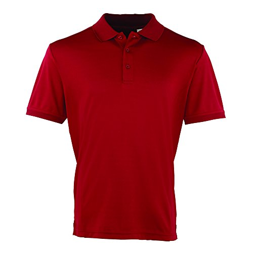 Premier Coolchecker, pique polo Burgundy