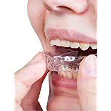 Ferula dental para el bruxismo x 6 | 100% libre de BPA | Tecnología de fácil moldeado | Paquete de seis protectores dentales en tres tamaños | Protector dental para evitar el rechinamiento y choque de dientes, DCM y bruxismo | Incluye funda grande anti-bacterial e instrucciones | 12 meses de garantía