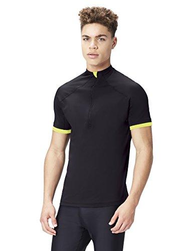 FIND Camiseta Elástica Para Hombre, Negro (Black/Lime), Medium