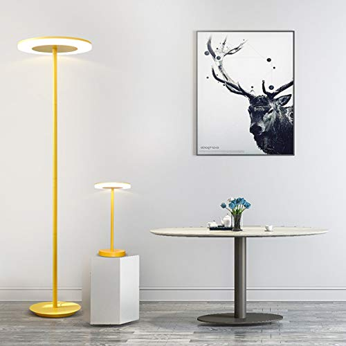 LAMPES À PLANCHER INTÉRIEUR ZXC YWXLight Lampadaire Macaron Simple (Couleur : Jaune)