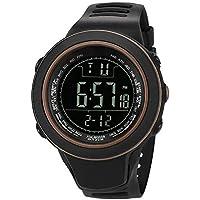 BIBOKAOKE Smartwatch Unisex Reloj LED Digital Pantalla Luces LED Fecha Prueba de Agua Relojes Al Aire Libre Deportes