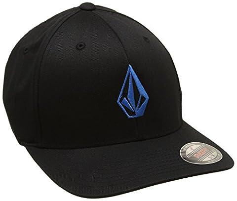Volcom Full Stone Xfit Cap Baseballmütze Flexfit Grau Schildmütze, Deep Water, S/M (Schildmützen Herren)