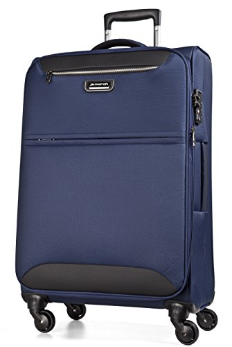 March 15 Trading Flybird Valise à 4 roulettes Bleu Marine 77 cm