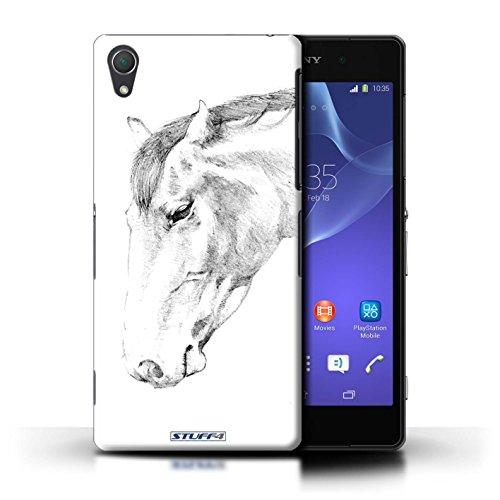 Kobalt® Imprimé Etui / Coque pour Sony Xperia Z2 / Aigle / Oiseau conception / Série Dessin Croquis Cheval