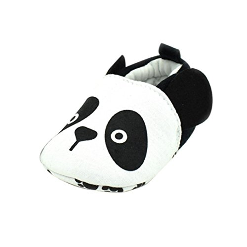 Babyschuhe Longra Baby jungen Mädchen Prewalker Anti-Rutsch-Soft Sole Sneaker Lauflernschuhe krabbelschuhe(0-18Monate ) White