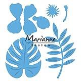 Marianne Design Troqueles con Diseño Hibisco y Hojas Tropicales, Metal, Azul, 16x12.4x0.2 cm