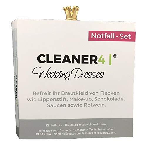 NOTFALL-FLECKEN-ENTFERNER für Brautkleider. +20ml Sprühflasche + high twistet Mikrofasertuch 30x30cm weiss + verpackt als Geschenkbooklet.