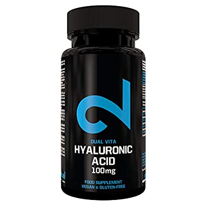 DUAL VITA Hyaluronic Acid | for Women & Men | High Dose | Hyaluronic Acid 100 mg x 60 Vegan-caps | 100% Natural Dietary Supplement | Laboratory Certified | Without Additives | Made in EU