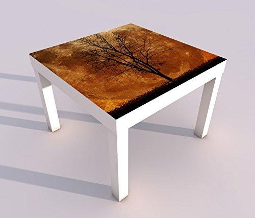 V Druck 55x55cm Vollmond Halloween kahler Baum Mond Spieltisch Lack Tische Bild Bilder Kinderzimmer Möbel 18A415, Tisch 1:55x55cm ()