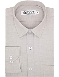 Arihant Plain Solid Cottswool Winter Wear Woolen Full Sleeves Regular Fit Formal Shirt for Men