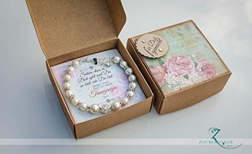 Trauzeugin, Brautjungfer, Mutter, Freundin, Geschenk in Schachtel,Armband,Hochzeit, Muttertag und viele weitere Anlässe
