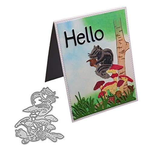 Nankod Metallstanzschablone Eichhörnchen zum Basteln, Scrapbooking, Album, Stempel, Papier, Karten, Prägung, Basteln und Dekorieren