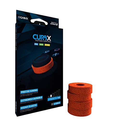 GAIMX CURBX 100 Motion Control - Zielhilfe und Stoßdämpfer für Thumbstick - Aim Verbesserung für Playstation 4 (PS4) und Xbox One, sowie Xbox 360 (Stärke 100)