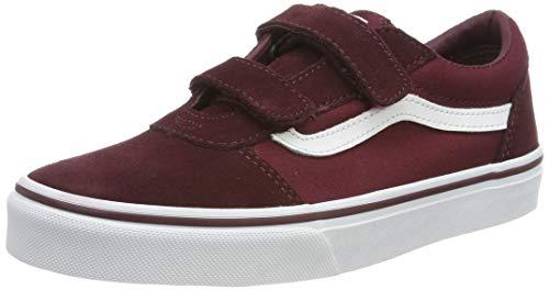 Vans Ward V-Velcro, Zapatillas para Niños, Rojo Suede/Canvas Port Royale/White U1a, 36.5 EU