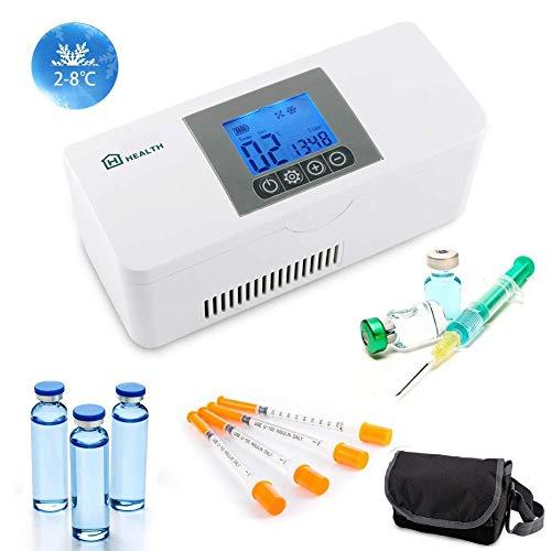 IDABAY Nevera Portátil de Insulina, Caja de Refrigerador de Insulina Semiconductor Refrigerador de Coche para Automóvil Viaje,Hogar con Pantalla LCD Temperatura Constante(2-8℃)