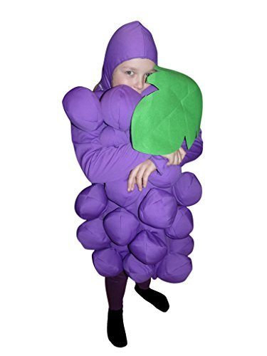 122-140 Weintraube Kostüm für Kinder, bequem über normale Kleidung zu tragen (Gurke Kostüme Ideen)