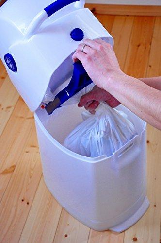 Geruchsdichter Windeleimer Diaper Champ regular silber – für normale Müllbeutel - 8