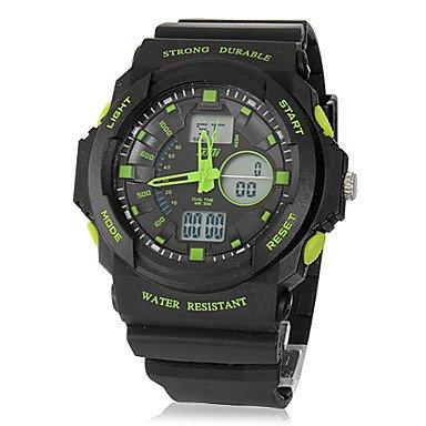 Fenkoo Herren Armbanduhr Japanischer Quartz LCD / Kalender / Chronograph / Wasserdicht / Duale Zeitzonen / Alarm Caucho Band Schwarz Marke- SKMEI