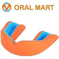 Oral Mart Sport Zahnschutz/Mundschutz für Kinder/Erwachsene (8 Farben) - BPA frei Sport Zahnschutz für Karate, Flagge Fußball, Kampfsport, Rugby, Boxen (mit Vented Case)