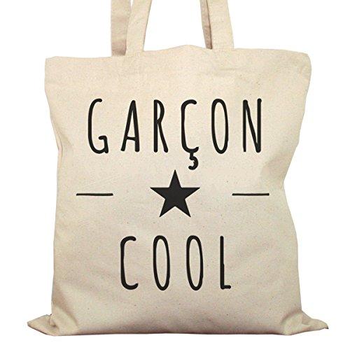 Tote Bag Imprimé Ecru - Toile en coton bio - Garcon Cool