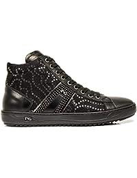 Sneaker NeroGiardini A806452-100 6452 Scarpe Sportive Nere con Pizzo e  Paillettes 64e5dd018ef