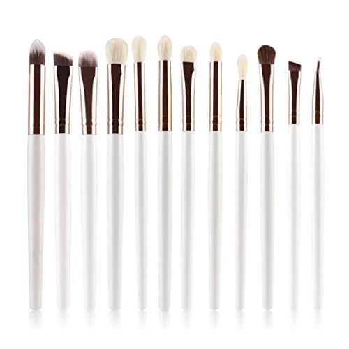 rosennie-12pcs-cosmetic-brush-makeup-brush-sets-kits-tools-white