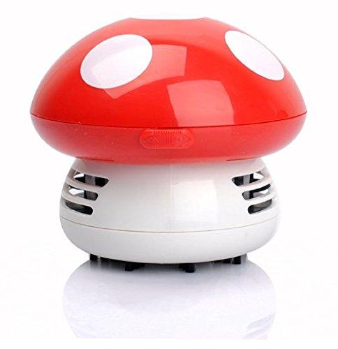 ANKKO Aspiradora mini seta limpiador Aspiradora de mano Aspirador para el ordenador - Rojo