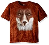 The Mountain Kinder Big Face Fox Kids Tee T-Shirt, Rust, M