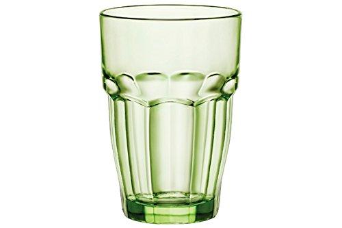Bormioli Rocco 418960C09821990 Rock Bar Lounge Bicchieri, 37 cl, Mint