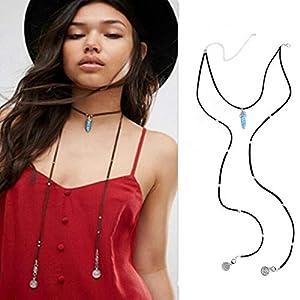 XUHAHAXL Halskette/Modeschmuck Halskette, Einfach, Multi-Element, Langes Geld, Quaste Halskette